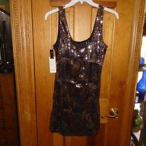 Pink sequins mini dress BB Dakota new with tags M